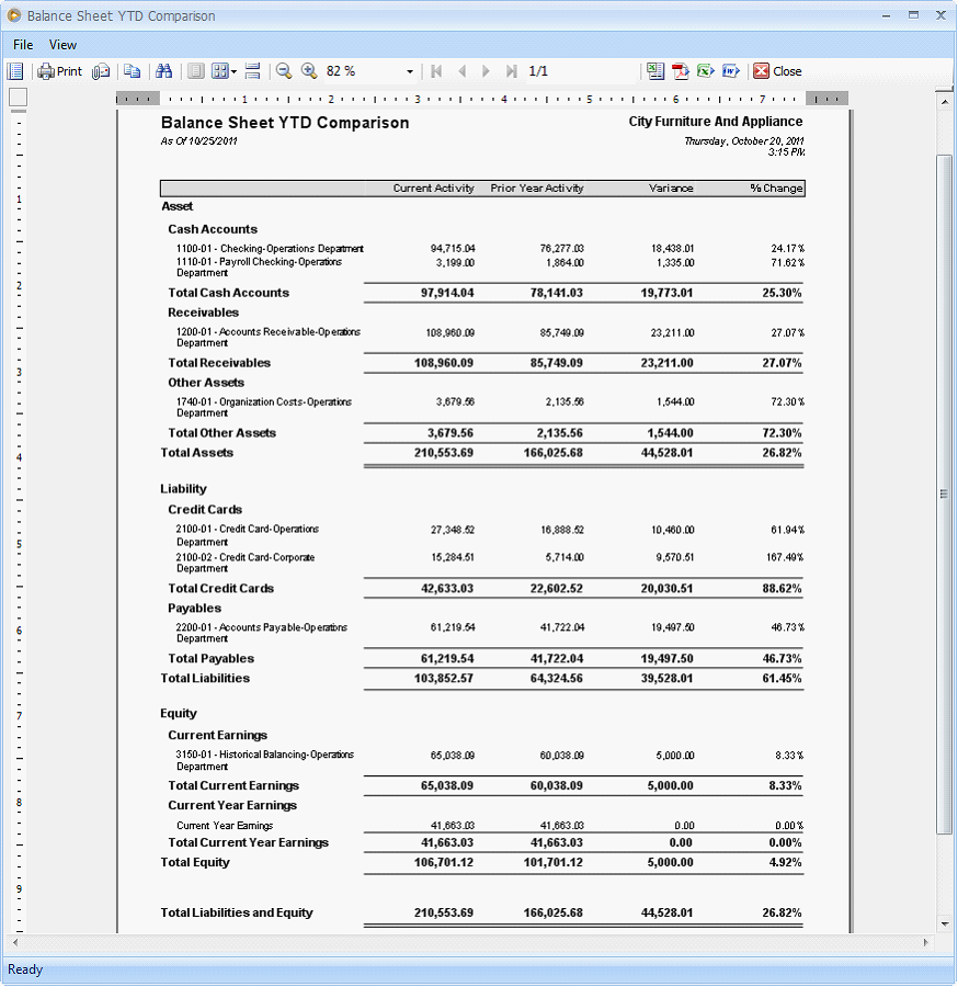 reports  u0026gt  standard financial comparison reports